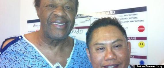 Marion Barry Thanked the Filipino Nurse Who Saved Him