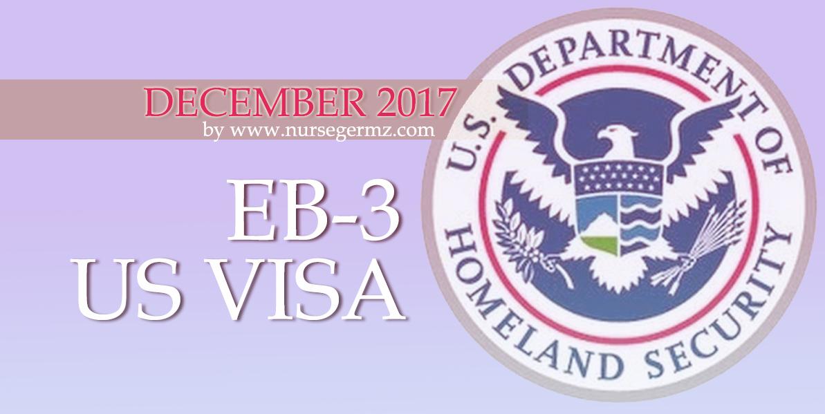 December 2017 EB-3 US Visa for Nurses in the Philippines