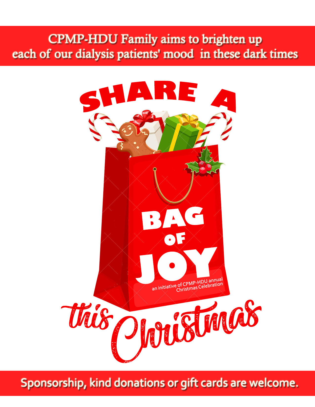 Celebrate Christmas with CPMP-HDU Share A Bag of Joy Initiative